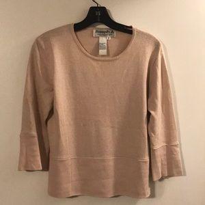 Joseph A. pale pink sweater